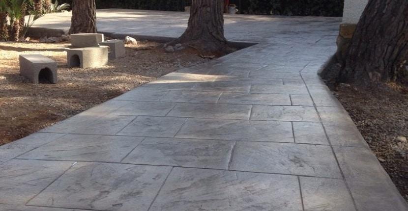 Molde hormigón impreso piedra natural