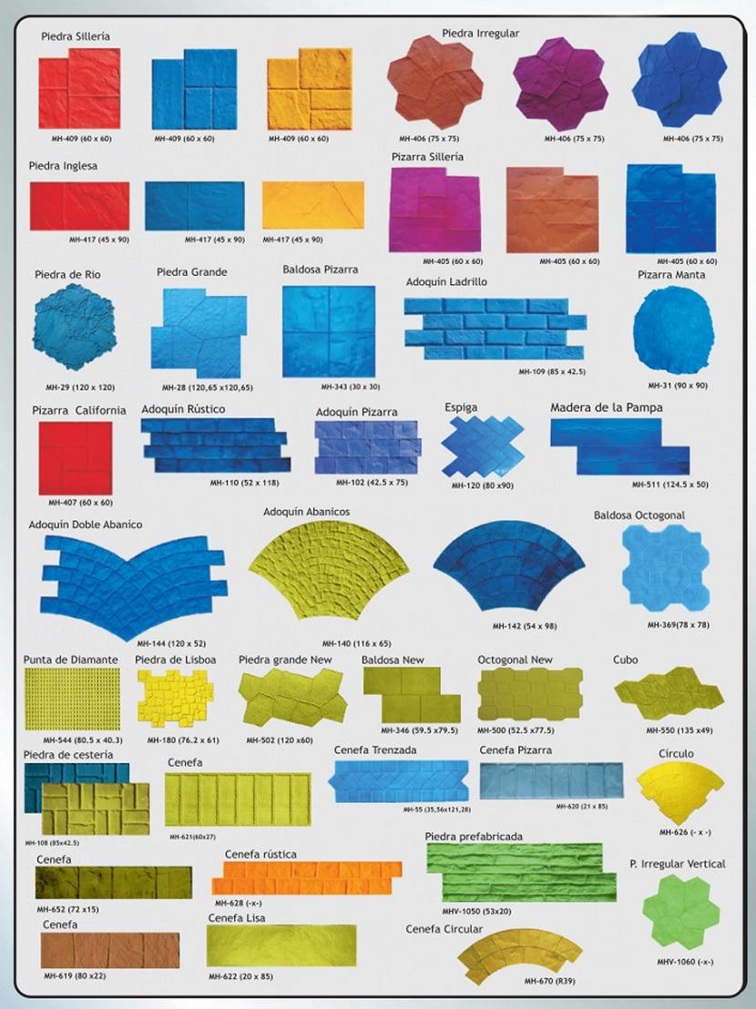 Tipos de moldes hormigon impreso